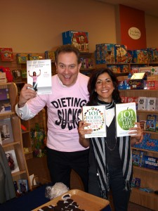 Nicki at book signing with diet expert Dave Grotto