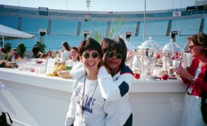 Back in 2000 with Oprah. Hmm, shorter hair for both of us!