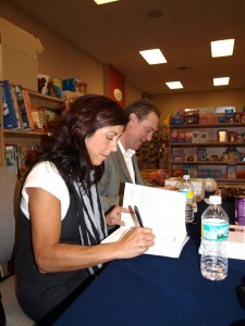 At my book signing